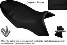 Negro Stitch Custom encaja Buell Xb 12 Ss Lightning Largo Doble Cuero Funda De Asiento