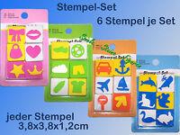 Stempel Set, Tiere, Verkehr, Sport, Mode, Bastel u. Gestalten Kreativ-Set