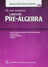 Success for Every Learner (ELL) Larson Pre-Algebra Workbook Holt McDougal 2012