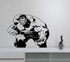 Hulk Wall Decal Comics Superhero Vinyl Sticker Comic Book Art Mavbel Decor hlk3