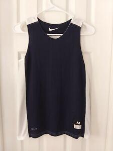 NWT NIKE Navy White Basketball Jersey Reversible 626726 420 Boy's M NEW