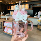 Hot Starbucks Liminted Edition Sakura Cat Straw Cup Large Capacity Coffee Cup