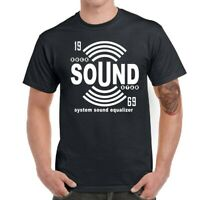 Rock Sound Men Short Sleeve Graphic T-Shirt Funny Tops Tee Shirts
