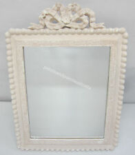 French Provincial Country Bow Rectangle Mirror Antiqued Fawn Surround