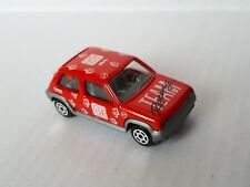 """Rare Majorette #205 Renault 5 GT Turbo In Red """"Racing Team No.45"""" / New / Loose"""