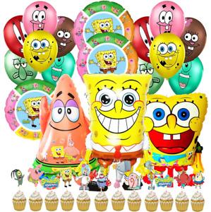 SPONGEBOB BIRTHDAY PARTY BALLOON DECORATION SUPPLIES CUPCAKE TOPPER THEME