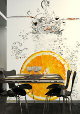 Photo Wallpaper Wall mural Orange in glass of water kichen style decor Fruits