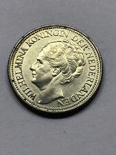 1941 Netherlands 25 Cents Silver AU #13539