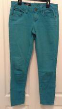 J. Crew Toothpick Sz 27 ANKLE Teal Blue Jeans Pants H2E