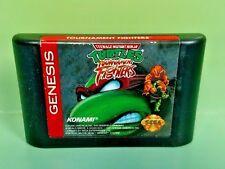 Teenage Mutant Ninja Turtles: Tournament Fighters Sega Genesis Rare + Tested !