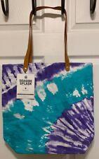 New Pottery Barn Teen Seaside Splash Beach Tote Bag Pool Purple Tie Dye
