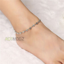 New Silver Plated Chain Anklet Ankle Bracelet Barefoot Sandal Beach Foot Jewelry