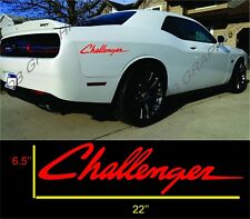2 decals vinyl sticker Dodge Challenger mopar hemi Side Graphics Hash Mark Srt
