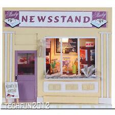 Handmade Wooden DIY European Miniature Shop House - Newsstand