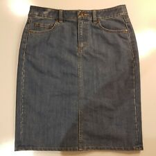 Sportscraft Denim Pencil Skirt Size 8 Blue - HS88