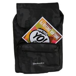 "DMC Midnight Camo Technics Record Laptop Backpack 7""s,12""s, Portable Deck etc."