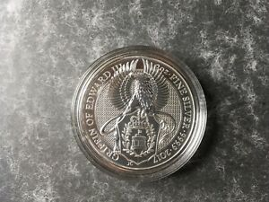 2017 2oz Queen's Beast Griffin of Edward III 999 Silver BUNC Coin IN CAPSULE