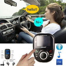 Bluetooth  KFZ FM Transmitter Auto MP3 Player USB TF Card AUX Freisprechanlage