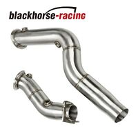 """3"""" Cast Stainless Steel Turbo Downpipes Fits S55 2015-2018 BMW M3 & M4"""