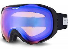 Bloc Ski Lunettes Masque M / Grand Noir Mat avec Bleu Miroir CAT.2 Lentille MK3
