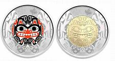 PRE-SALE! 2020 BILL REID Toonie $2 Color + NO Color Canada Coin Special RCM Roll