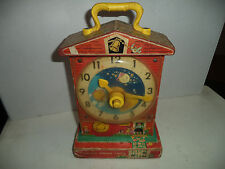 Vintage Fisher Price Toy Musical Teaching Clock 1960's Still Working