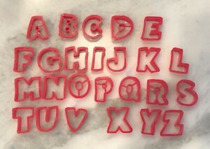 25 Jello Jigglers alphabet letters plastic cookie cutters