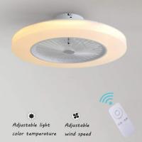 Ventilador de Techo con Lámpara LED, 36W Creativo Invisible Control Remoto