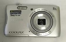 Nikon COOLPIX S3700 20.1MP Digital Camera - Silver #2968