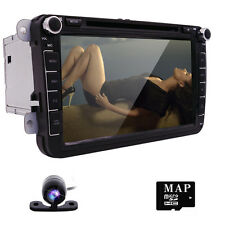 "GPS Navigation In Dash 8"" Car Stereo CD DVD Player for VW Golf Jetta Polo Skoda"