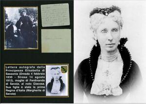 Lettera autografa Principessa Elisabetta di Sassonia a Giacosa 1907