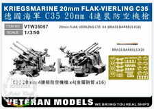 Veteran Models 1/350 Kriegsmarine 20mm Flak-vierling C35 4pcs