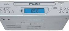 Sylvania Kitchen Under Cabinet AM FM Radio CD Silver Mounting Hardware Included