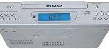 Sylvania SKCR2613 Kitchen Under Cabinet AM FM Radio CD Silver Mounting Hardware