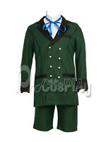 US Free Ship ~ Black Butler Ciel Phantomhive Simplified Cosplay Costume mp002449