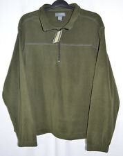 Saddlebred Fleece Pullover Jacket 1/4 Zip Olive Green Men's XL NWT