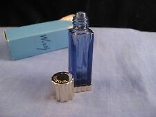 FRENCH VINTAGE MINIATURE GLASS PERFUME SCENT BOTTLE JE REVIENS WORTH TRAVELLER