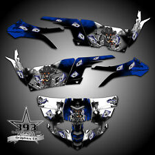Yamaha YXZ1000R YXZ 1000 R Graphics Kit Wrap Decal Outlaw White Blue