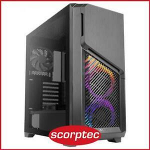 Antec Dark Phantom DP502 FLUX Black ATX Case, T/G Window, No PSU