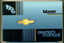 CHEVROLET Blazer owners Manual Englisch Bedienungsanleitung  1996