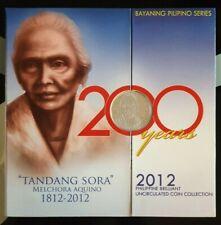 Philippines Tandang Sora 2012 Brilliant UNC Collection Set 1c to 10 Piso Rare!