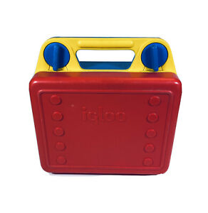 Vintage Igloo Lunch Box Kool Kase Case Blue, Red and Yellow Includes Divider