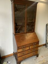 Antique Regency Mahogany Secretaire Bureau Bookcase c.1830.