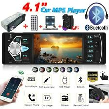 Single 1DIN 4.1'' Car Stereo Radio Bluetooth FM MP5 Player USB Head Unit +Camera