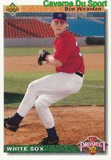 076 BOB WICKMAN TP CHICAGO WHITE SOX  BASEBALL CARD UPPER DECK 1992