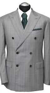 Brioni Anzug Gr. 52 NEU Super 150 AKTUELL + Etikett Grau Zweireiher NP: 6950€