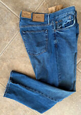 Polo Ralph Lauren Mens Jeans 36 x 30 Thompson Relaxed Fit Light Wash Denim NWT
