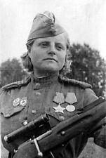 Zhibovskaya Nazarov Sniper WW2 Russian soldier Soviet Red army  photo photograph