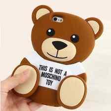 "3D Bär Bear iPhone 7 plus Silikon Case Hülle Schutzhülle Tasche Backcover 5.5"""