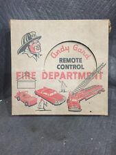 Vintage Andy Gard Remote Control Fire Department Kit Fire Truck Chief Car Jeep